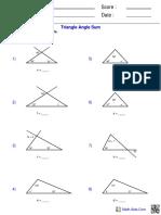 Triangle Angle Sum