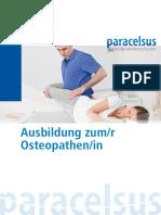 Osteopathie Prospekt
