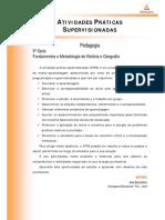 ATPS Fundamentos e Metodologia Historia e Geografia