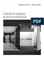 El Proyecto Moderno, Pautas de Investigación - Cristina Gastón, Teresa Rovira.pdf