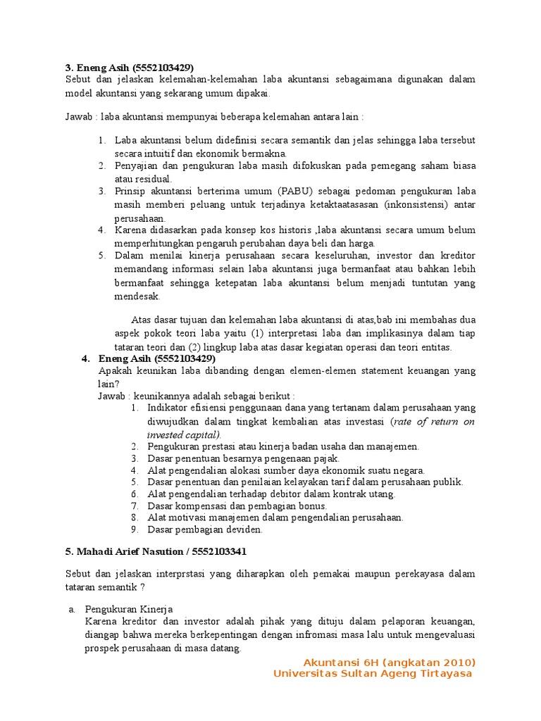 Teori Akuntansi Soewardjono Bab 10 Pengantar By Suwardjono