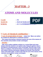 3 Atoms and Molecules