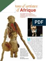 Dons d'artistes et d'Afrique