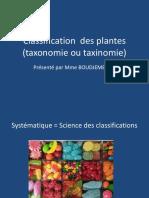 biologie végétale univ alger cours 1 classification