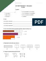 fractii-test de evaluare