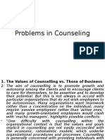 problems in Counselling PPT
