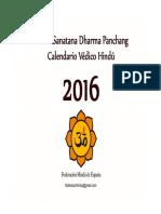 Calendario Hindu 2016