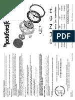1st Gen Rockford Fosgate P1 Subwoofer User manual