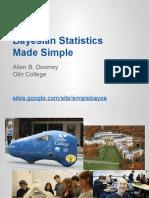 PyCon 2015- Bayesian Statistics Made Simple