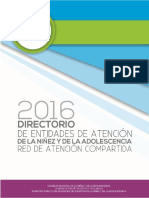 Directorio Entidades de Atención 2016
