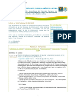 Puentes para un diálogo Europa América Latina, boletín n° 158, 2 de septiembre de 2015