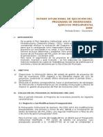 Estado Situacional de Proyectos de Inversion Pim 2009