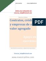 Contratos, Créditos y Empresas