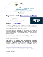 Técnicas de Auditoria Financiera