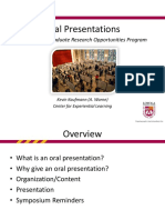 Planning an Oral Presentationkck
