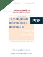 Tecnologías de Información e Informática