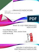 key performance indicators - melissa sheldon