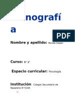 Monografía de Psicologia