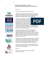 Green Tax Extenders Coalition Letter