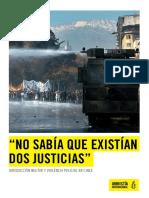 Justicia militar y violencia policial en Chile