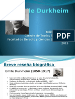 Emile Durkheim Presentacion Clase