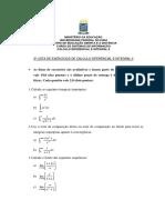 3ª Lista Avaliativa -Calculo II