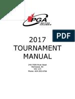2017 PGA of BC Tournament Manual