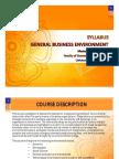 1. General Business Environment Syllabus - Update 2013_2