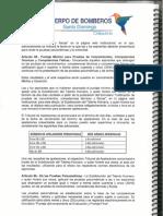 Art. 85 Reglamento Interno que regula la Administración Autónoma de Talento Humano del Cuerpo de Bomberos del GADM SD.