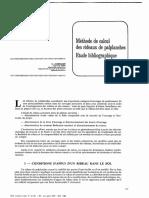 Méthode de Calcul Des Rideaux Palplanches - Etude Bibliographique