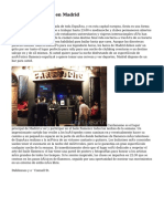 5 increíbles bares en Madrid
