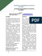 cultura de desarrollo economico de las niif