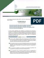 Convocatoria del Programa de Innovación e Investigación Tecnológica 2016