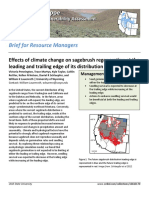 Effects of climate change on sagebrush regeneration at the leading and trailing edge of its distribution