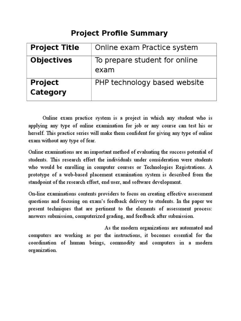 2003 Online Exam Practice System Test Assessment Educational