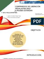 Disolución de Comprimidos de Liberación Modificada de Mesalazina