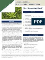 U.S. Cannabis Investment Report 2016