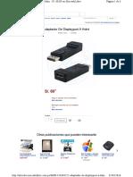 Adaptador HDMI a Displayport