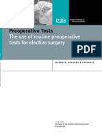 Preoperative tests in elective surgery