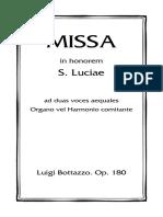 Bottazzo-Missa Sancta Luciae-Due Voci Pari