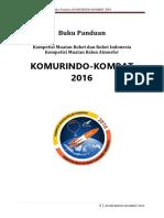 Buku Panduan Komurindo Kombat 2016