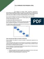 Desarrollo Dirigido Por Pruebas - TDD.