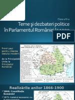 Teme și dezbateri politice în Parlamentul României la 1900