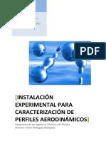 Instalación Experimental Para Caracterización de Perfiles Aerodinámicos