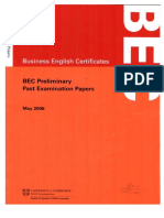 Business English Certificate BEC