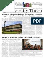The University Times - April 29, 2010