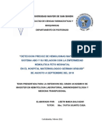 5. Deteccion Precoz de Hemolisinas Maternas Del Sistema Abo y Su Relacion Con La Enfermedad Hemolitica Fetoneonatal Ehfn