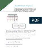 Manual de InterpolaciónLineal en Xcell