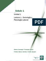 Lectura 1 - Sociología y Psicología Laboral