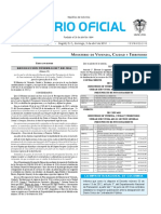 Diario oficial de Colombia n° 49.833. 3 de abril de 2016